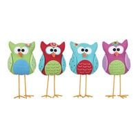 Fabric Standing Owl Set