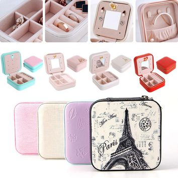 Fashion Cosmetic Leather Jewelry Box perfect for traveling