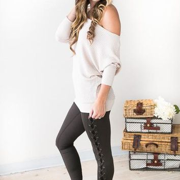 Olive Grove Lace Up Leggings