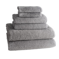 PALAIS LUXURY TOWELS | Set of 6 | Pewter