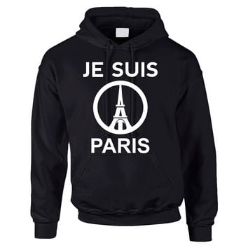 JE SUIS PARIS Eiffel tower womens Hoodies