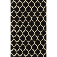 Simple Morocco Area Rug - Black