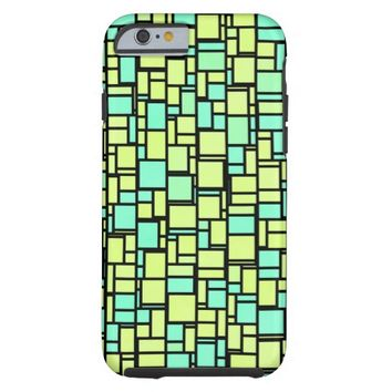 Abstract Mosaic Pattern Tough iPhone 6 Case
