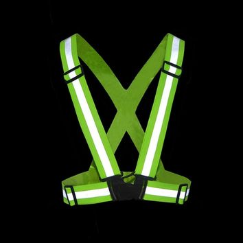 Unisex Motorcycle Reflective Belt Safety Vest High Visibility Vest Clothes Running Cycling Outdoor Sports warning belt