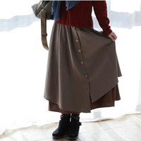 Simple Skirt by AIW in Midi-Cap Length