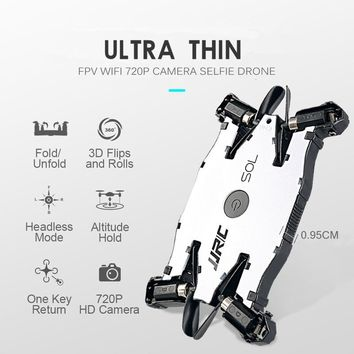Ultra Thin Selfie Drone With Camera 720p Folding Drones Mini Rc Drone Remote Control Toys For Kids Jjrc H49wh Dron Rc Helicopter