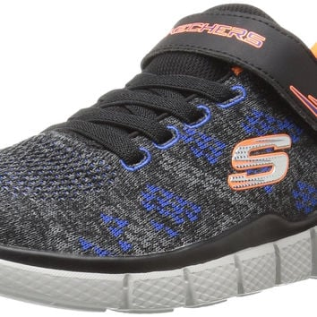 Skechers Kids Equalizer 2.0 Strap Sneaker (Little Kid/Big Kid) Charcoal/Black Big Kid (8-12 Years) 4 M US Big Kid '
