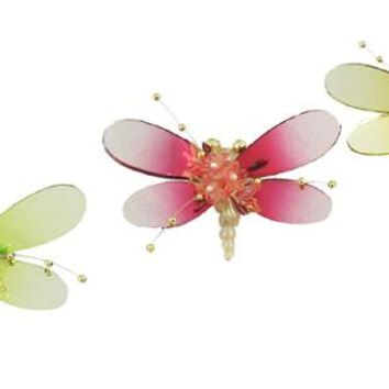 3 Christmas Ornaments - Dragonflies