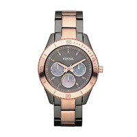 FOSSIL® Watch Styles Rose Watches:Women Stella Stainless Steel Watch - Smoke and Rose ES3030