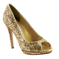 Formal Shoes - Touch Ups Tease-4031 Gold Glitter Pumps