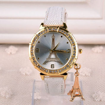 Eiffel Tower Sparkling Watch