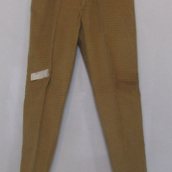 1960s Key Man Splinters Deadstock Peg-legged Corduroy Pants in Gold