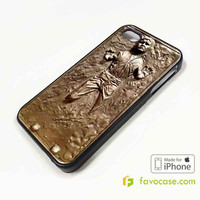 HANS SOLO Frozen in Carbonite Star Wars iPhone 4/4S 5/5S 5C 6 6 Plus Case Cover
