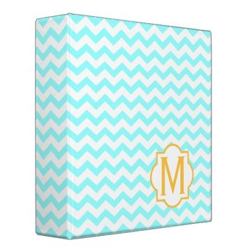 Monogram Chevron Pattern Binder