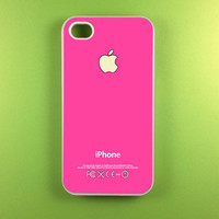 Hot Pink Iphone Case, Iphone 4 Case, Iphone 4s Case