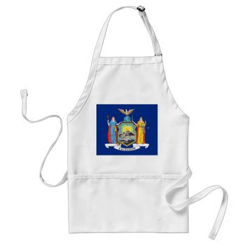 Apron with Flag of New York, U.S.A.