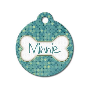 Teal Polka Dots - Pattern Pet Tags