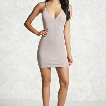 Ribbed Ladder-Cutout Dress