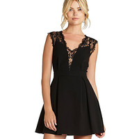 BCBGeneration Lace-Inset Dress | Dillard's Mobile