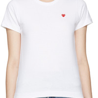 White Small Heart T-Shirt