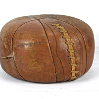 Medicine Ball, Vintage Medicine Ball, Leather Medicine Ball