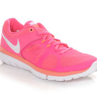 Women's Nike Flex 2014 Run Pink/Mango/Wht | Shoe Carnival