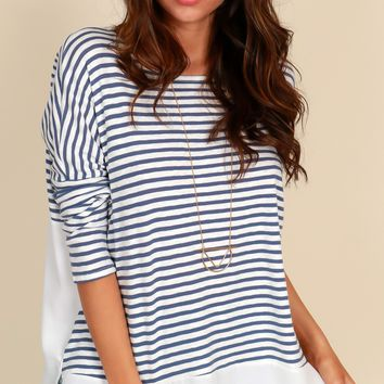 Work From Home Top Navy