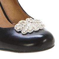 Shoodads Crystal Silver Shoe Clip
