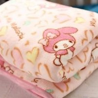 New My Melody Pink Rabbit Catoon Soft Flannel Blanket Bed Sheet Beddings Gift