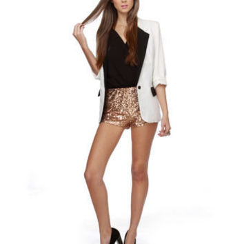 Hot Sequin Shorts - Copper Shorts - $39.00
