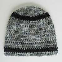 Toddler Boy Grey Hat  With Black  Stripes 12 To 24 Month Old  Baby Girl Gray  Cap 1 To 2 Year   Infant Winter Beanie   Fall Skullcap
