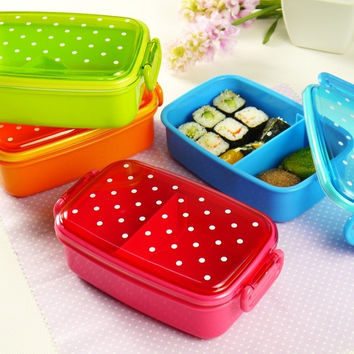 Mini Cute Candy Color Bento Lunch Boxex Fruit Food Container for Kids = 1958732292