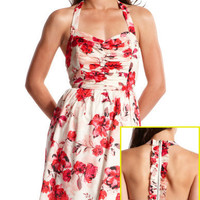 Charlotte Russe - Ruffled T-Back Sundress