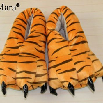 SexeMara Brand 2016 Hot Funny Animal Paw Slippers Cute Monster Claw Slippers Cartoon S