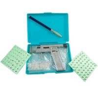 Professional Ear Body Piercing Gun Tool Kit Set Case w/ 98 Studs
