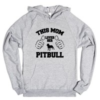 This Mom Love Her Pitbull-Unisex Heather Grey Hoodie