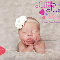 Preorder Dana Headband, newborn baby girl headband photography props - vintage couture boutique