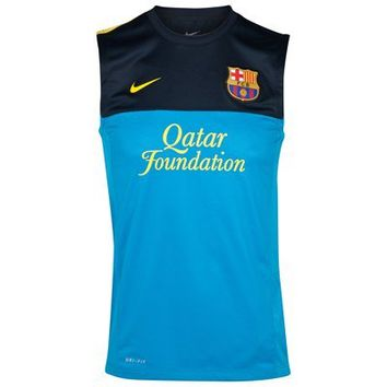 Barcelona Sleeveless Training Top 1 - Dynamic Blue/Dark Obsidian/Tour Yellow