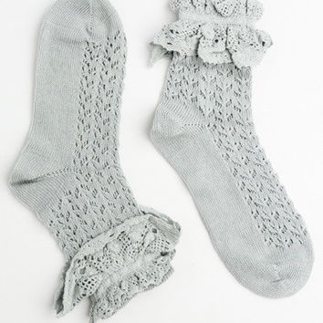 Ruffle Lace Ankle Socks