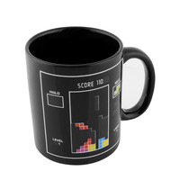 Brand New Cool Tetris Game Pattern Magic Heat Sensitive Reactive Color Change Mug Coffee Present Hot