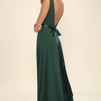 That Special Something Forest Green Maxi Dress