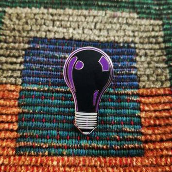 Black Light Bulb EDM Raver Festival Rave Parody Enamel Lapel Hat Pin