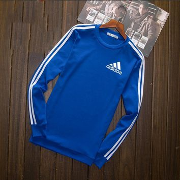 Adidas Fashion Long Shirt Crop Long Sleeve Top Tee Blue I-YSSA-Z