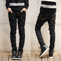 Slim Fit Men Black Denim Jeans