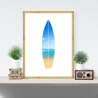 Beach Wall Art, Surfboard Wall Print, Beach Wall Print, Ocean Wall Art, Ocean Wall Print, Surfboard Wall Art, Turquoise Summer Print *125*