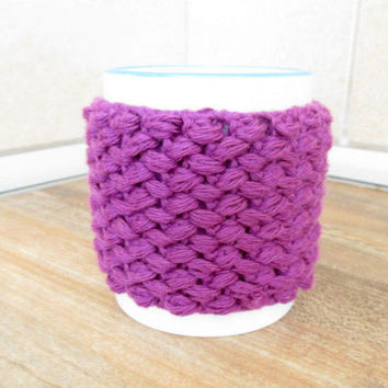 Coffee mug cozy, Knit coffee cup cozy, Knit tea cup cozy, Knit cup sweater, Mug warmer, Coffee mug sweater, Coffee mug warmer, Cup sleeve