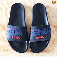 Fendi New fashion letter print slippers shoes women 3#