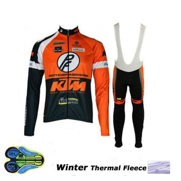 KTM Winter thermal fleece cycling jersey ropa ciclismo invierno hombre sport mtb bike winter cycling clothing bicycle men style