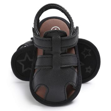 Baby Boys  Prewalker Soft Sole PU Leather Beach Sandals Kids Sneakers
