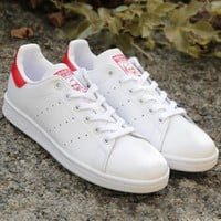 Unisex Men & Women Casual Fashion Trending Sport Print Adidas Stan Smith Shoe Red-1